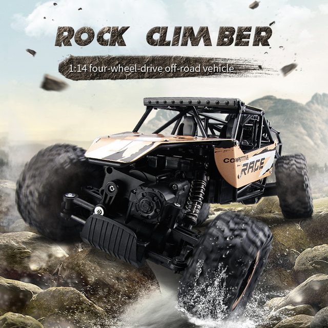 Rc Rock Climber 1 14 Four Wheel Drive Ful Off Road Vehicle 2 4g Remote Control Crawler Kids Gift