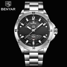2019 Hot BENYAR Men's Watches Top Brand Luxury Quartz Watch Men Sport Wristwatch Waterproof Auto Date Clock Relogio Masculino