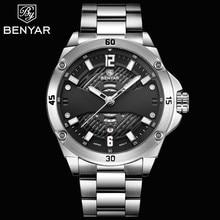 2019 Hot BENYAR Men's Watches Top Brand Luxury Quartz Watch Men Sport Wristwatch Waterproof Auto Date Clock Relogio Masculino цена 2017