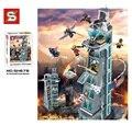 511 pcs super hero ataque vingador marvel homem de ferro thor definir blocos de construção da torre sy370 minis figuras tijolos compatível