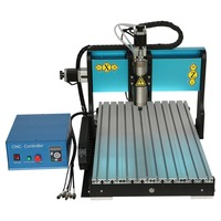 USB 3 Axis CNC Router 6040 1.5KW Water Cooling Spindle with 2.2KW VFD + TBI SFU1605 Ballscrew for Steel Iron Engraving