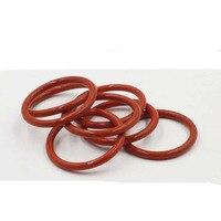 10 piezas de 3 1mm de diámetro de alambre de silicona roja a prueba de agua sello de anillo O de alta resistencia a la temperatura 67mm- 78mm diámetro exterior