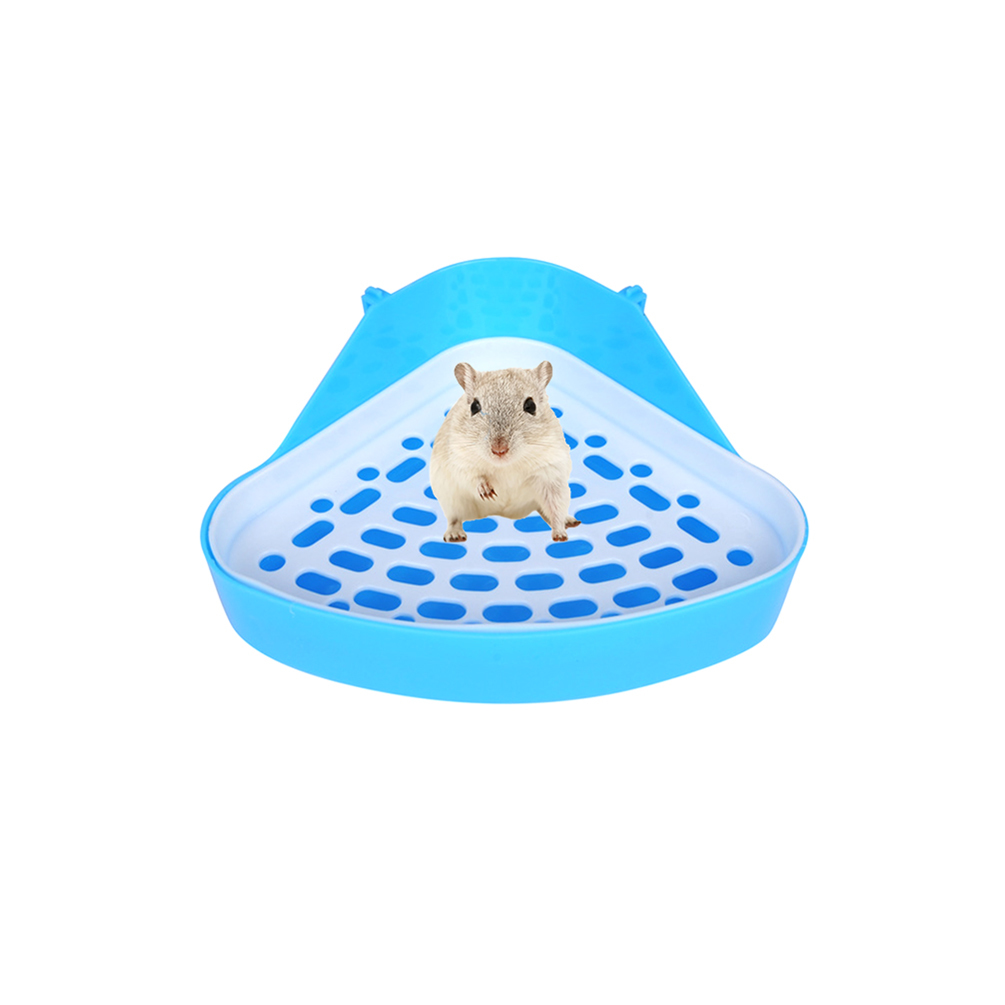Petacc Hamster Toilet Small Animal Potty Trainer Triangle High quality Pet Litter Box for Hamster, Rabbit and Guinea Pig