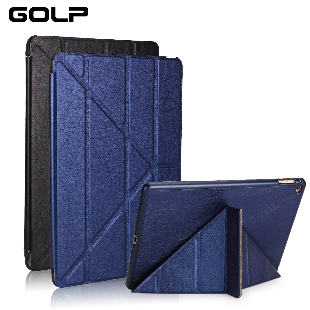 for ipad air 2 case, GOLP PU leather for iPad air 2 cover, PC back case for iPad Air 2 , Flip case and smart cover for ipad 6 for ipad air case dowswin pu leather smart case for ipad air cover with pc hard back stand flip case for ipad air 1 cases