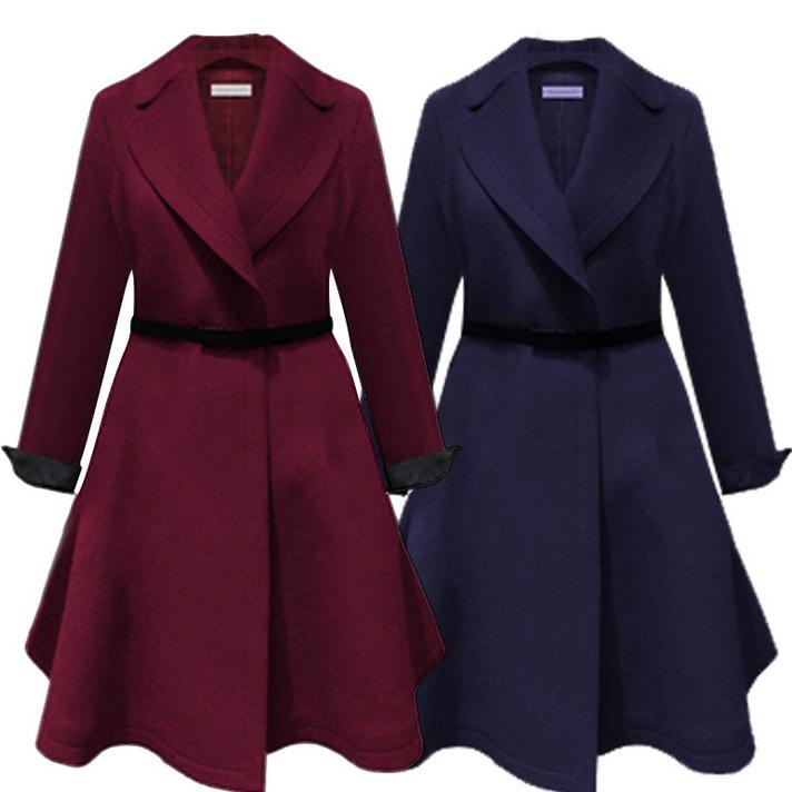2018 autumn spring new fashion Windbreaker Slim waist turn-down collar women   trench   coat plus size 4XL