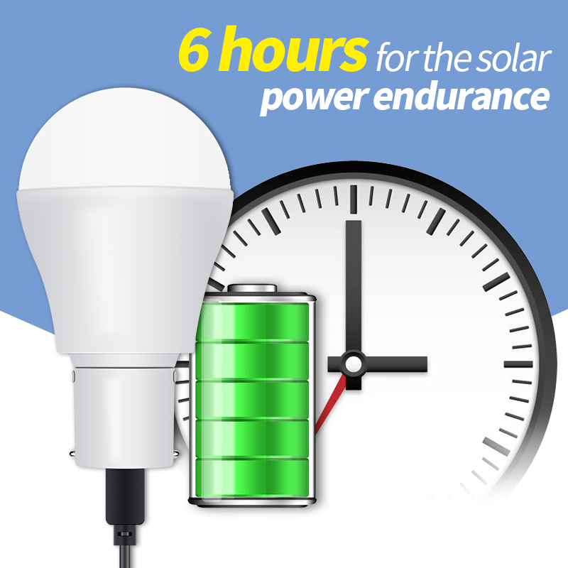 Portable Solar Light 15W 250LM Solar Powered Energy Lamp 5V LED Bulb for Outdoor Camping Lamp Tent Night Fishing Light SMD 2835 in Solar Lamps from Lights Lighting
