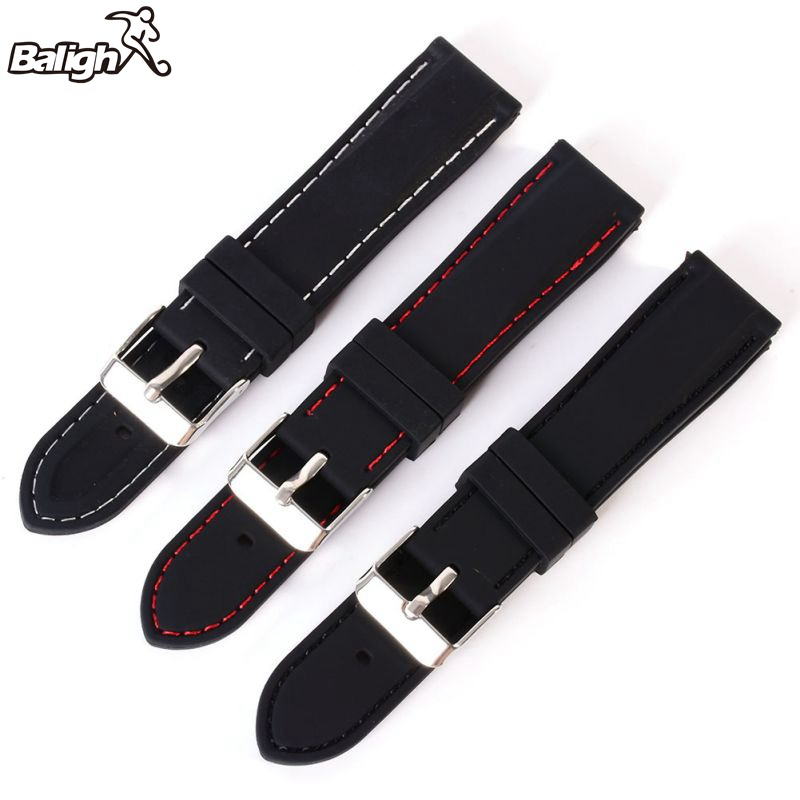 New 2018 New 18-24mm New Fashion  Wrist Watch Band Trendy Army Military Silicone Resin Strap Sports Canvas Wrist Watch Band