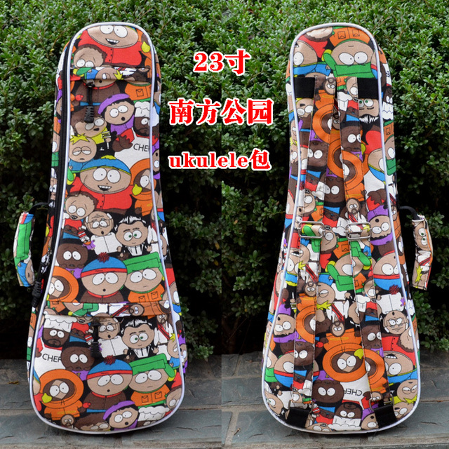 "23""24"" inch fashion thicker guitarra gig case ukulele bag small guitar backpack children guitar  pack  piano bags free shipping"