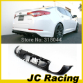 Car K5 Optima PU Matt Black Painted Rear Bumper Diffuser Lip for Kia K5 Optima 2012
