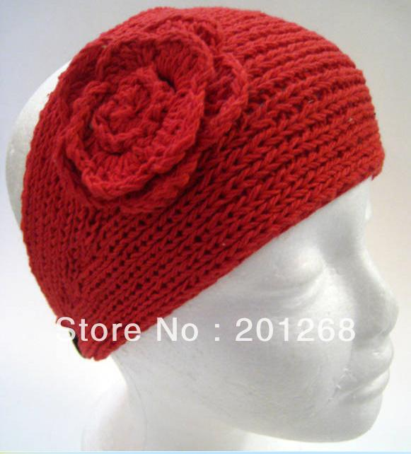 Crochet Headwrap Head wrap women Headbands headwear flower headbands Mixed color Free shipping