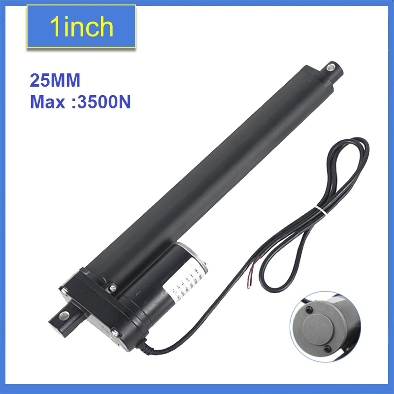 Heavy Duty 125mm Stroke Linear Actuator 12V/24v DC max load 3500N/350KGS/770LBS electric linear actuator tubular motors motion 24v wireless remote controller for heavy duty linear electric actuator new 1 pcs