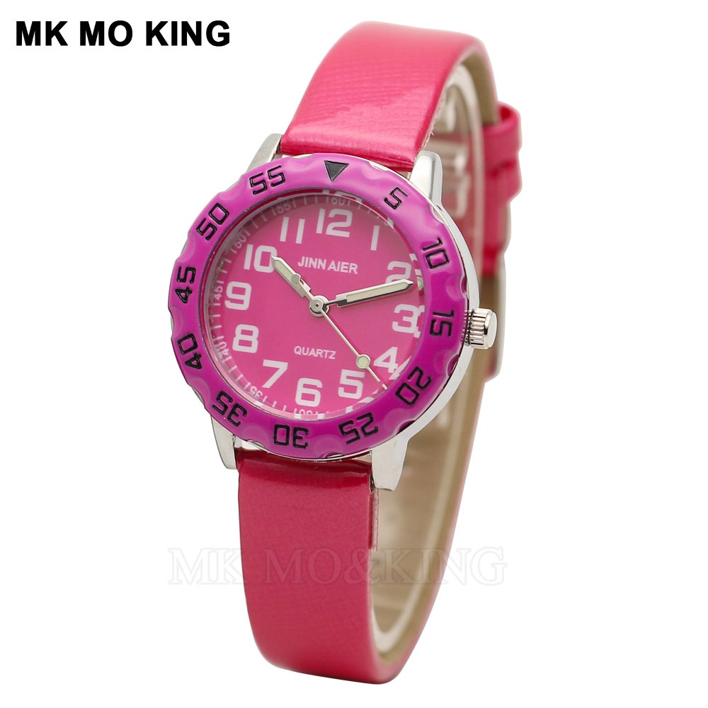 Cute Pink Love Children Love Watch Fashion Arabic Number Boy British Sports Clock Casual Student Baby Bracelet Clock Relogio