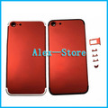 Red Housing For iPhone 6S Plus Like for iPhone 7 Style Red Metal Back Cover Housing Middle Frame Bezel Housing LOGO