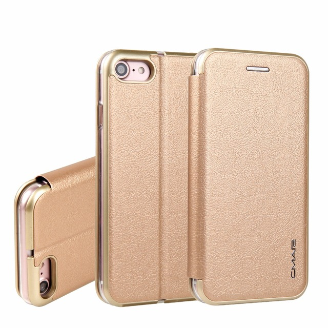 new product e825b ccb11 US $8.68 21% OFF|For iPhone 6S Cases Luxury Slim PU Leather PC Edge Folio  Flip Magnetic Book Case Cover for iPhone 6/ 6S/ 7/ 6 Plus 7 Plus-in Wallet  ...
