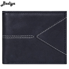 Mens Short Bifold Wallets Slim Credit Card Holder Slot Male Casual Billfold with Coin Purse Pu Leather Solid Vintage Money Bag цена в Москве и Питере