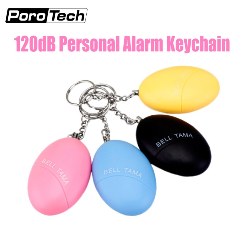 Wholesale 2018 New Portable Emergency Personal Alarm Keychain 120DB Bell Tama Self Defense Anti-attack Anti-Wolf Alarm For Women