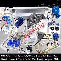 Hond@ Civi*c Complete Turbo Kits D Series EX/Si 1.6L SOHC VTEC I 4 125HP D16Z6