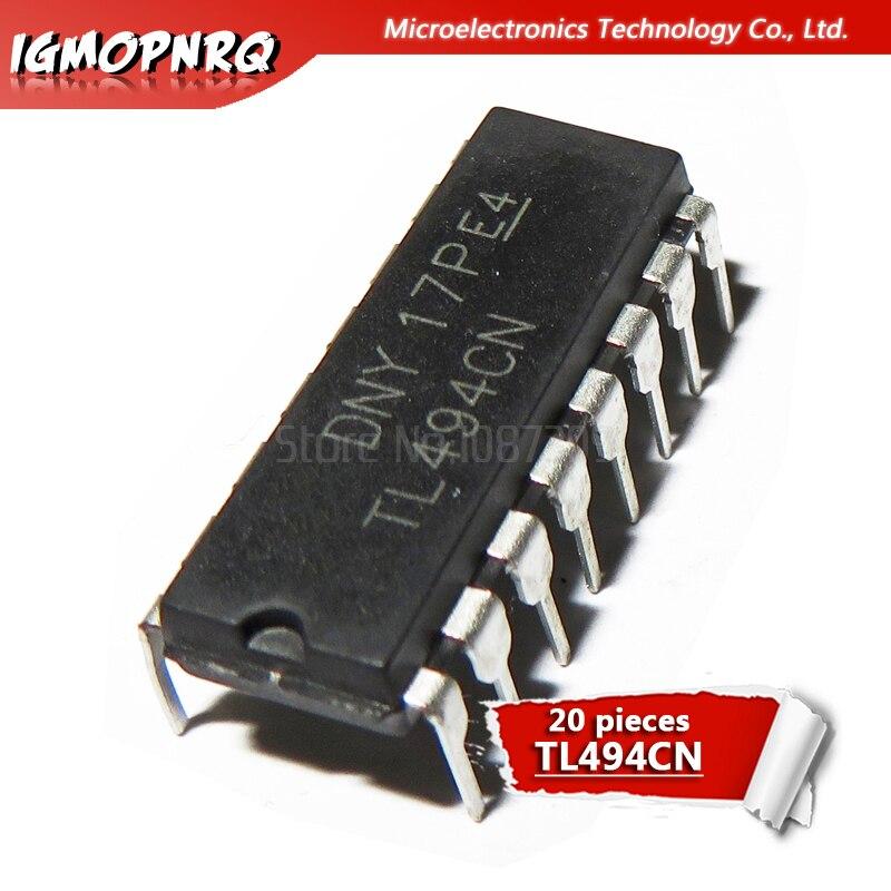 Новые оригинальные контроллеры, 20 шт. TL494CN TL494 494 Switng, 40 кГц, 200 мА, ШИМ DIP-16