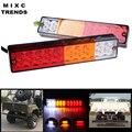 2X20 LED Âmbar Branco Vermelho À Prova D' Água Caminhão Reboque RV Cauda Barra de luz Correndo Brake Turn Signal Reversa Lâmpada de luz para o Caminhão SUV Jeep