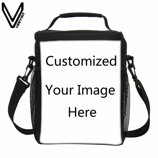 Veevanv 2017 Casual Custom Lunch Bags For Women Portable Insulated Cooler Bag Tote Message Function