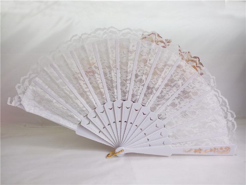 50pcs Bele čipke Poročni navijač favorit, Dame Hand Fan, Čipke s - Prazniki in zabave - Fotografija 4