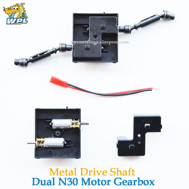 WPL Upgrade Spare Part N30 Motor Gearbox Original WPL OP Fitting WPL Accessories N30 Motor & Shell For WPL B14 B24 C14 C24 4*4