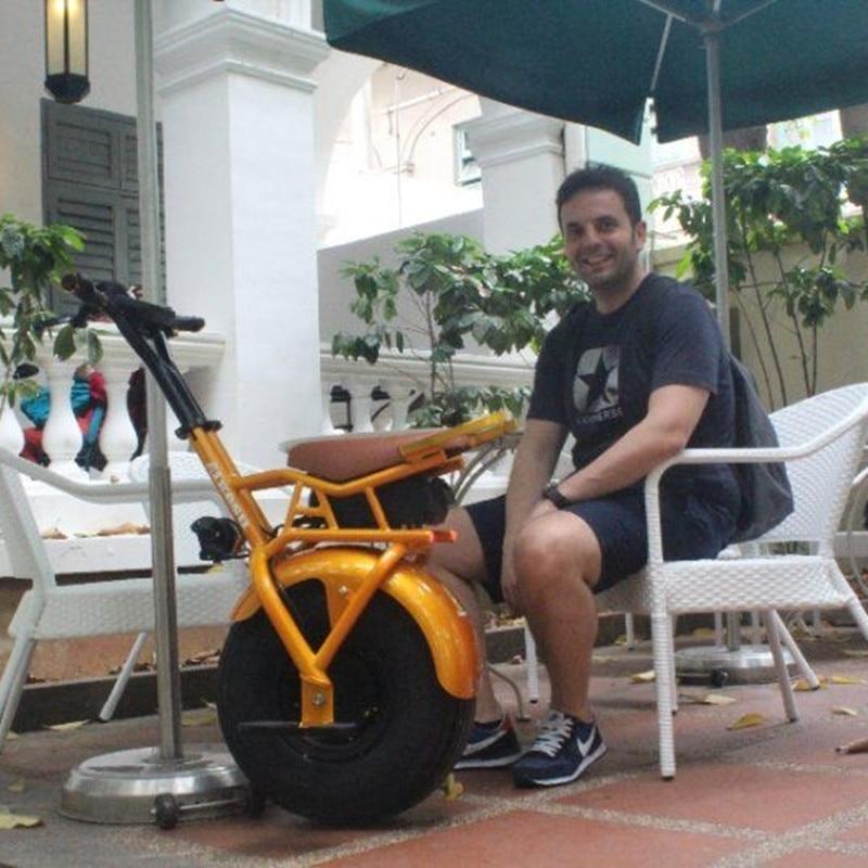 60 v 1000 w un fat tire électrique équilibre scooter monocycle elektro vélo citycoco avec siège