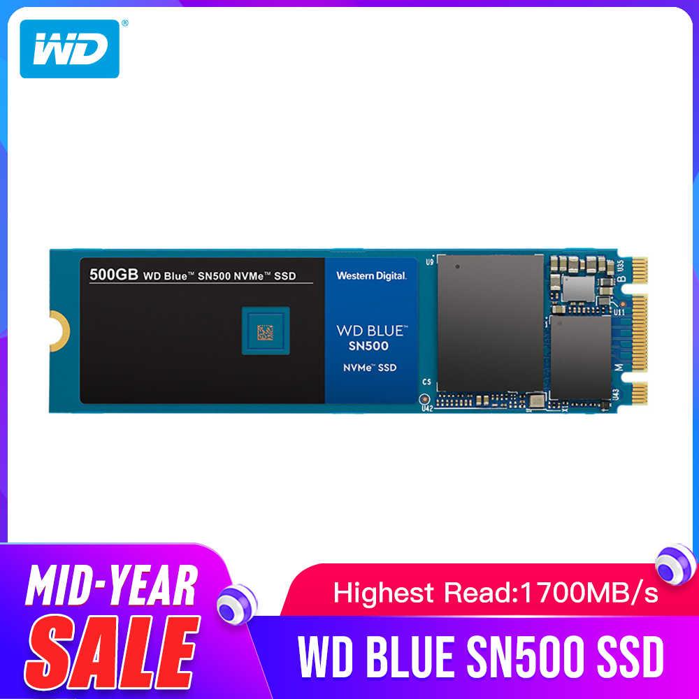 ويسترن ديجيتال الأزرق SN500 SSD محرك 250GB 500GB M.2 2280 NVMe بكيي Gen3 * 2 الداخلية الحالة الصلبة محرك للكمبيوتر شحن مجاني