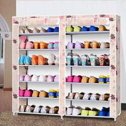 Современный минималистский моды свежий творческий нетканые двойной ряд обувь Организатор обувь шкаф сборки хранения обуви стойки