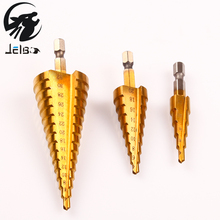 Jelbo Six Angle Handle Step Drill Set Hole Opener Step Drill Bit Set Power Tools Step Drill Bit Set 4-12/4-20/4-32mm