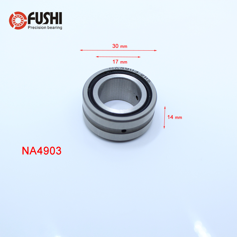 NA4903RS Bearing 17*30*13 mm ( 1 PC ) Solid Collar Needle Roller Bearings With Inner Ring NA4903 RS Bearing bk3038 needle bearings 30 37 38 mm 1 pc drawn cup needle roller bearing bk303738 caged closed one end