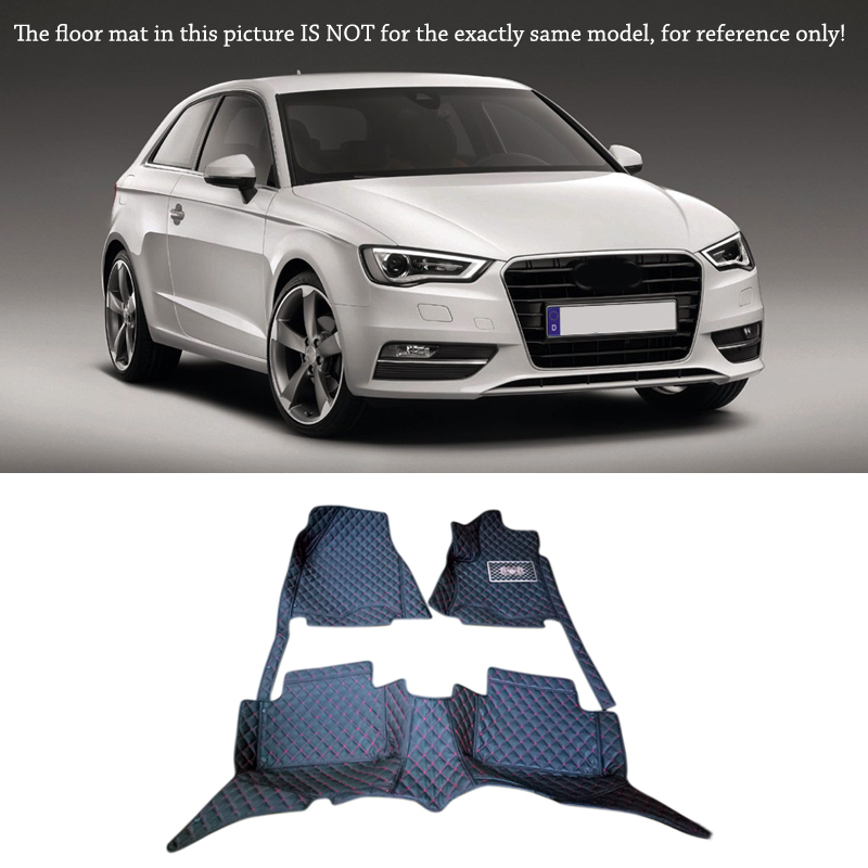 Interior Leather Floor Mats & Carpets 1set Right left hand drive For Audi A3 2010 2011 2012 2013 10 13 for audi a3 8v quality leather mats inner carpet foot mat 2010 2011 2012 2013