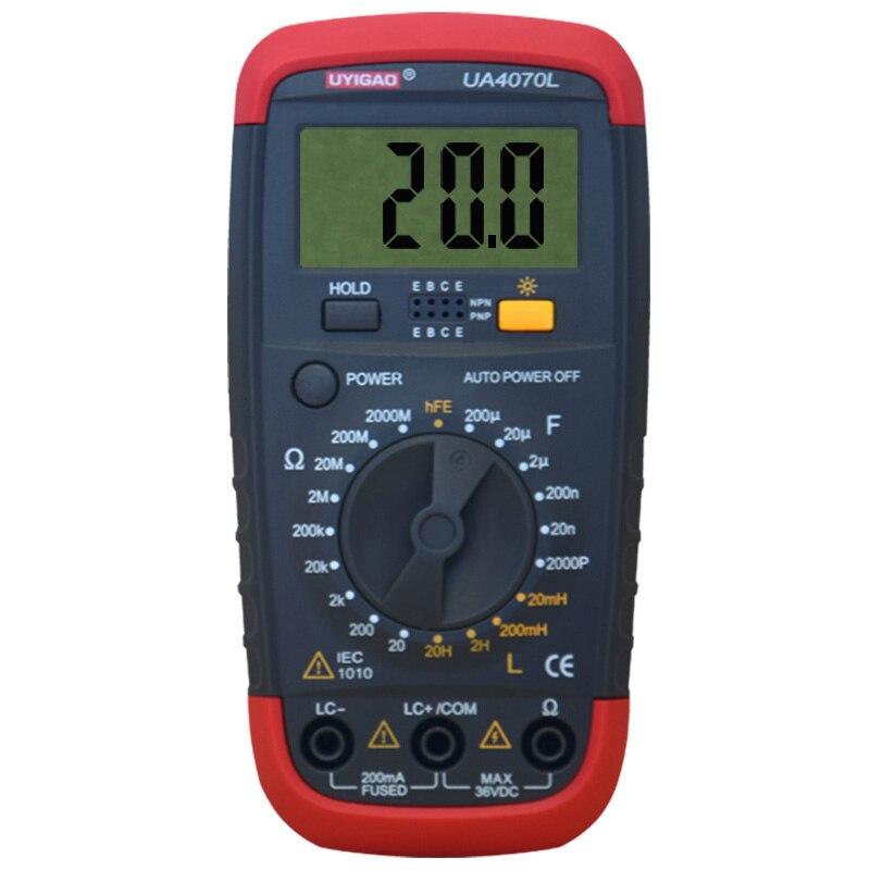 New Style UYIGAO UA4070 Digital Multimeter DMM Resistance Capacitance Inductance LCR Multi Meter Tester with Backlight  цены