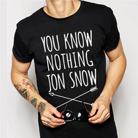Game Of Thrones T Shirt Winter Is Coming You Know Nothing TShirt MEN Jon Snow Print