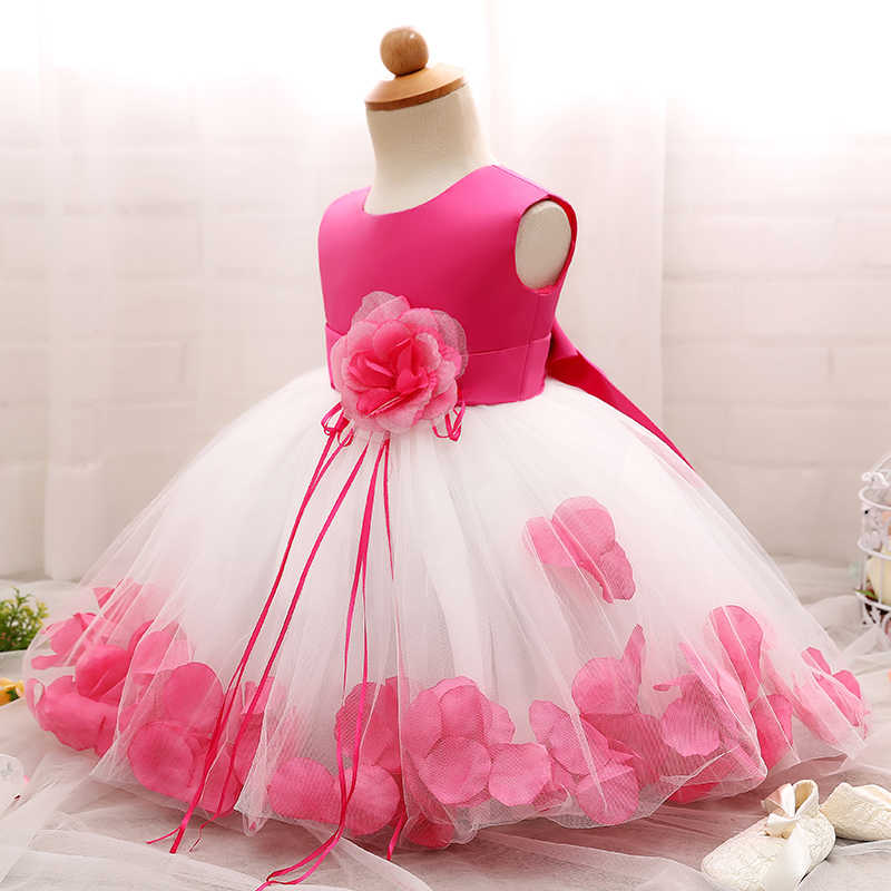 6e94117d81a96 Flower Baby 1st 2nd Birthday Outfit Dress Newborn Baby Girl Baptism Clothes  Tutu Christening Wedding Gown Infant Party Dresses