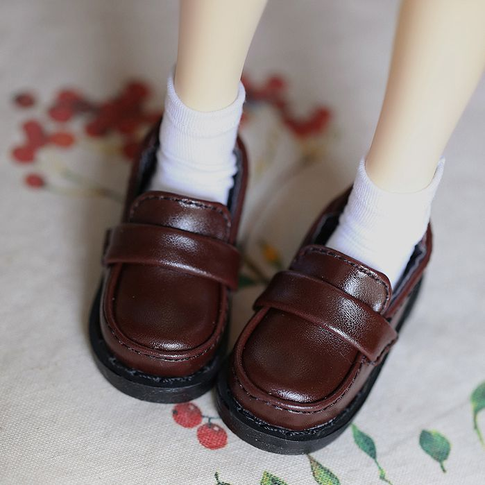 BJD DOLL Coffee Synthetic Leather Shoes Flates For  1/4  17