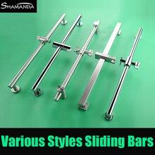 Новинка SUS304 нержавеющая сталь утолщаются никель Регулируемый подъемный раздвижной бар с держателем для душа квадратный/круглый стиль