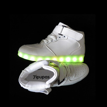 2017 Winter high-top Lighted trainers shoes Led luminous shoes for men Unisex,Welcome to resell,With perfect customer service