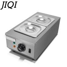 JIQI шоколадные плавильные котлы коммерческий двойной горячий шоколад окунания плавильная машина цилиндр Электрический подогреватель плавления 2 решетки