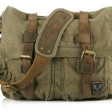 Хит, винтажные, новинка, военные холщовые мужские сумки-мессенджеры, сумка через плечо, Повседневная сумка, Холщовая Сумка на плечо для мужчин