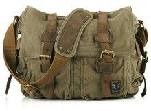 Hot Vintage New 2016 Militär leinwand Mannkurierbeutel Crossbody Lässig Tasche leinwand umhängetasche für männer