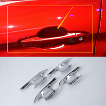 Car Accessories Exterior Decoration ABS Chrome Side Door Handle Bowl Cover For Mitsubishi Eclipse Cross 2018 Car-styling