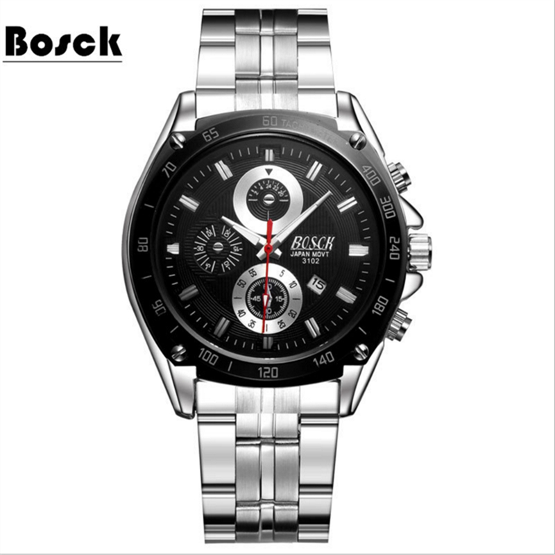 Fashion Simple Men Watch Waterproof Blue Point Casual Quartz Watches Men with Date Week Wristwatch