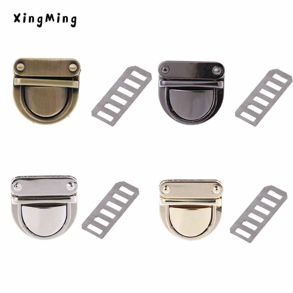 Xingming 3x3cm Metal Clasp Turn Lock Twist For Diy Handbag Bag Purse Hardware Closure 4 Color