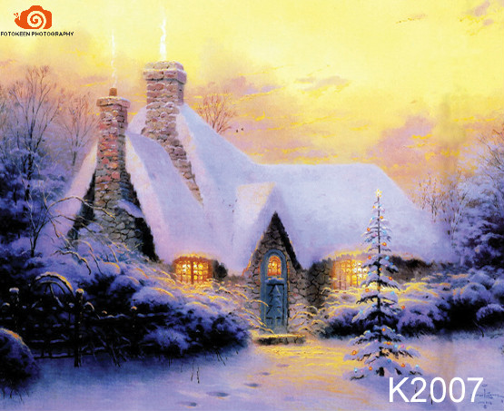 10X20ft Hand painted Muslin Christmas backdrops, nature winter snow scenic newborn Photography Studio wedding Backgrounds K2007 10x20ft hand painted muslin old master newborn photo backdrop wedding photography studio backgrounds for family adults m07101