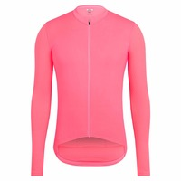 SPEXCEL 2018 best quality bright Pink aero long sleeve cycling jerseys Road Bike race tight fit cycling shirt with Reflective