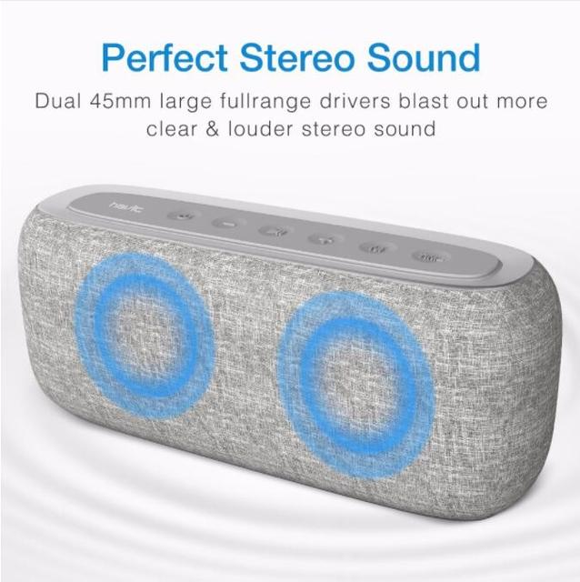 HAVIT-M29 Bluetooth Speaker Draagbare Thuis Luidspreker met Digitale Wekker 3D Stereo Verbeterde Bass Speaker Ondersteuning FM