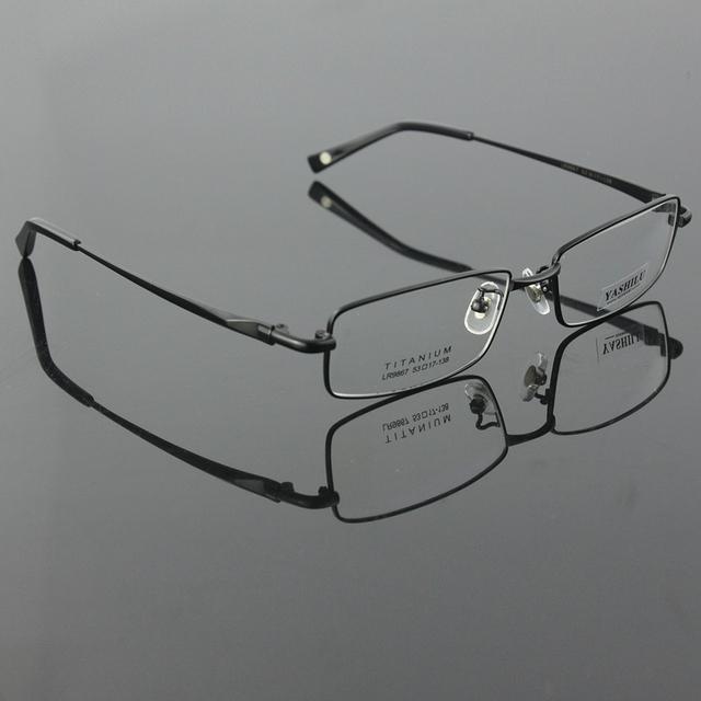 Envío libre 100% pure titanium montura completa marcos de anteojos de marca hombres marco óptico montura de gafas de ojos gafas graduadas
