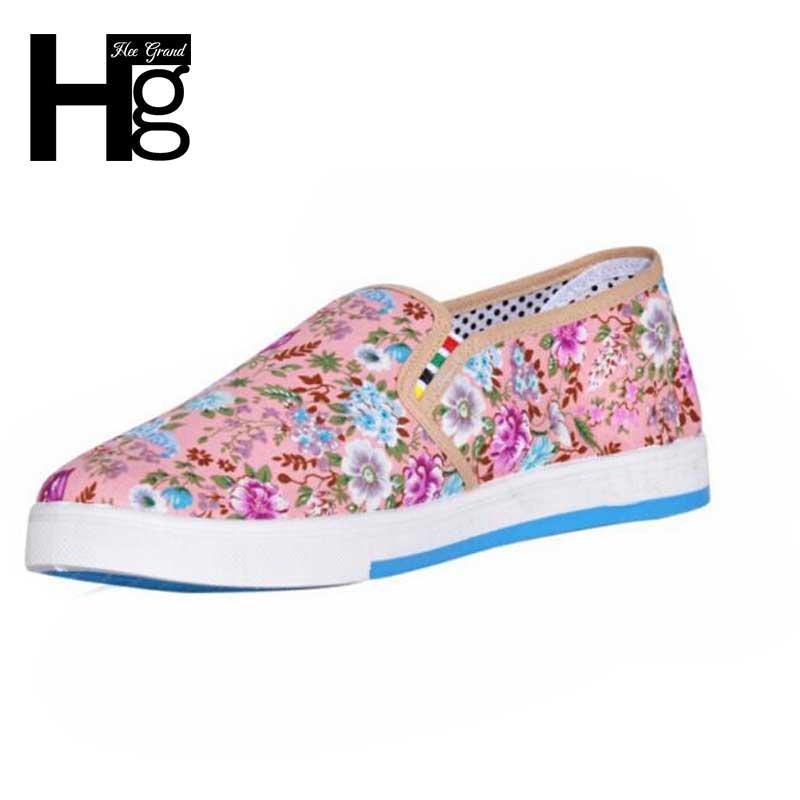 Hee grand 2017 nuevas mujeres de la llegada floral dulce zapatos de mujer zapato