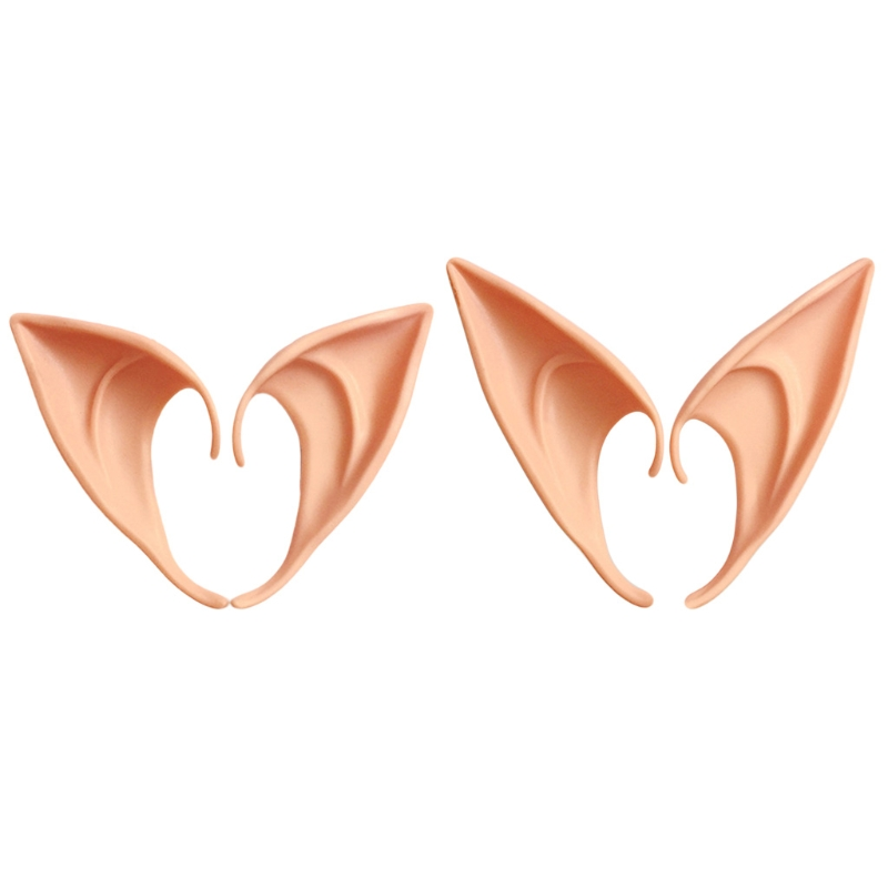 1 Pair Latex Elf Ears Pointed Cosplay Mask Accessories Halloween Masquerade Party Anime Fairy Costumes Deep Color W15